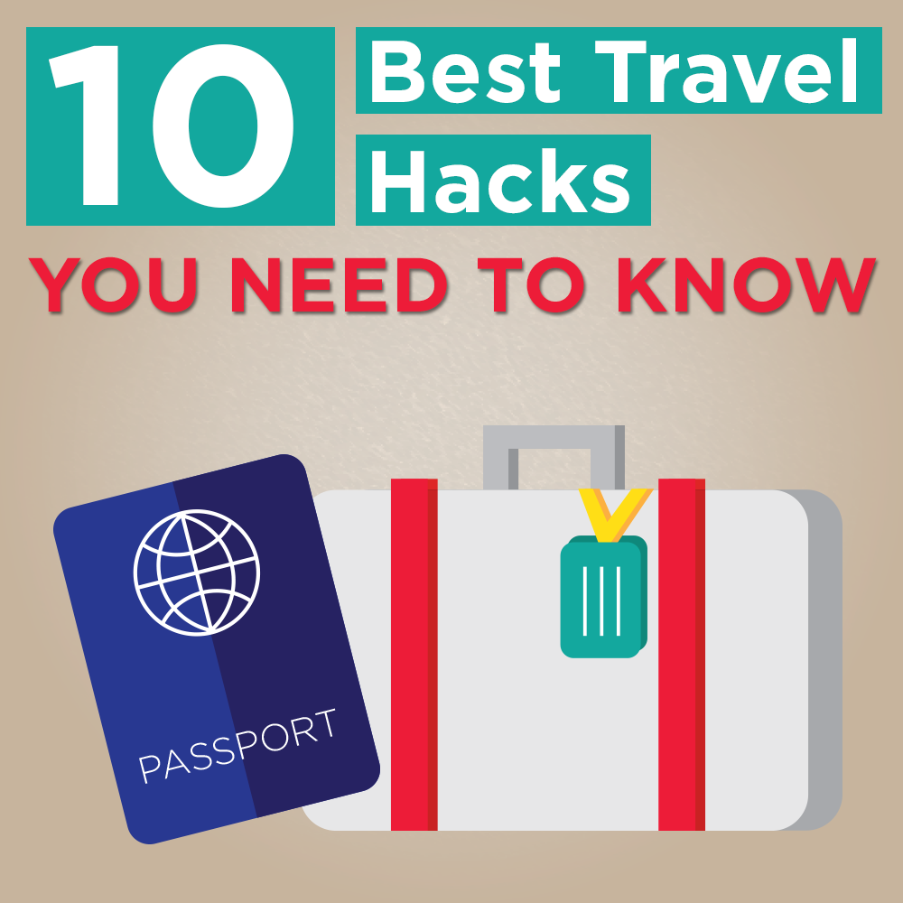 10 Best Travel Hacks Infographic