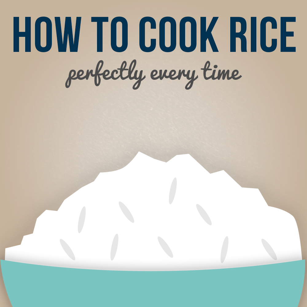 How to Cook Rice Infographic